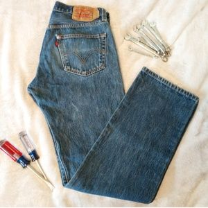 Levi's 501 W32 L32 - broken it & worn